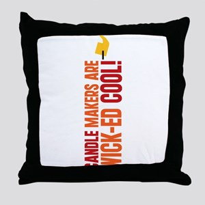 Candle Makers Are Wick-ed Cool Throw Pillow