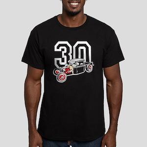 Hot Rod Truck Men's Fitted T-Shirt (dark)