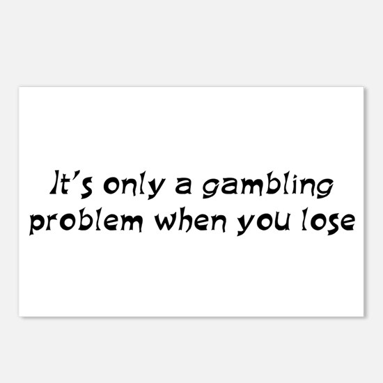 Gambling problem Postcards (Package of 8)