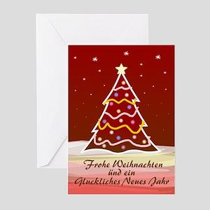 Xmas Tree - german Greeting Cards (Pk of 10)