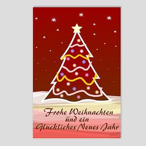 Xmas Tree - german Postcards (Package of 8)