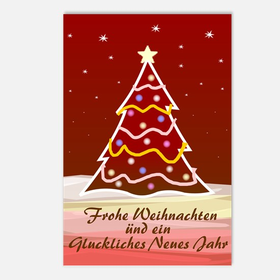 Xmas Tree - german Postcards (Package of 8)