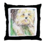Portrait of a Yorkie Throw Pillow