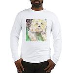 Portrait of a Yorkie Long Sleeve T-Shirt