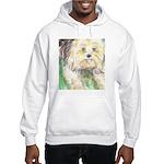 Portrait of a Yorkie Hooded Sweatshirt