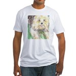 Portrait of a Yorkie Fitted T-Shirt