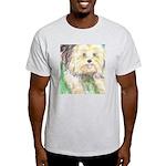 Portrait of a Yorkie Ash Grey T-Shirt