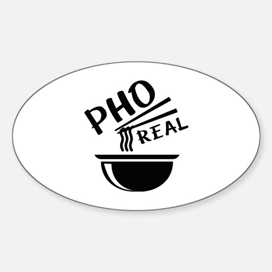 Pho Real Sticker (Oval)