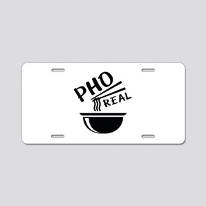 Pho Real Aluminum License Plate