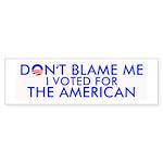 Don't Blame Me 10-Pk Bumper Sticker