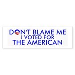 Don't Blame Me 10-Pk Bumper Sticker