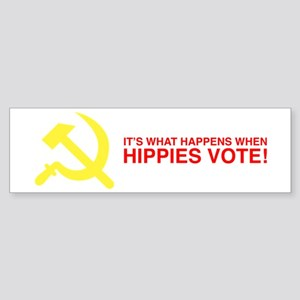 Hippies Vote Bumper Sticker