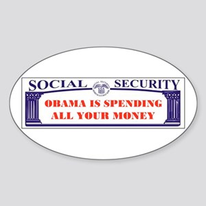 WE'LL ALL BE POOR Oval Sticker (10 pk)