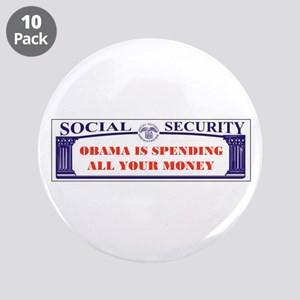 "WE'LL ALL BE POOR 3.5"" Button (10 pack)"