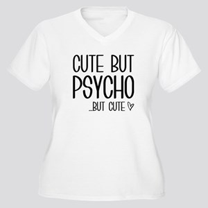 Cute But Psycho Women's Plus Size V-Neck T-Shirt
