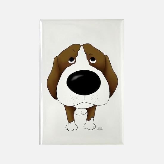Big Nose Beagle Rectangle Magnet