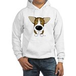Big Nose Corgi Hooded Sweatshirt