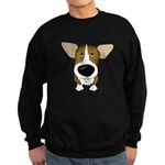 Big Nose Corgi Sweatshirt (dark)