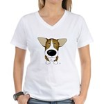 Big Nose Corgi Women's V-Neck T-Shirt