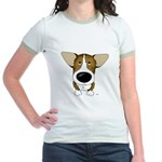 Big Nose Corgi Jr. Ringer T-Shirt