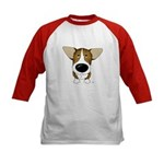 Big Nose Corgi Kids Baseball Jersey