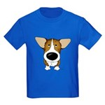 Big Nose Corgi Kids Dark T-Shirt