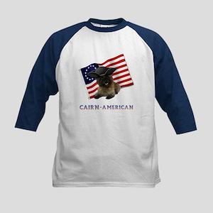 Cairn Terrier American Kids Baseball Jersey