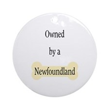 Owned by a Newfoundland Ornament (Round)