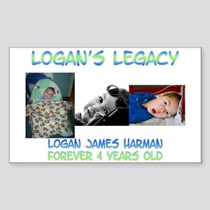 Logan's Legacy Rectangle Sticker