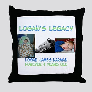 Logan's Legacy Throw Pillow