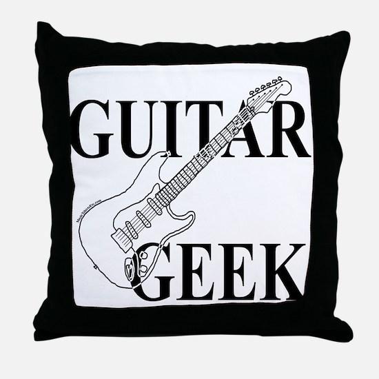 Guitar Geek Throw Pillow