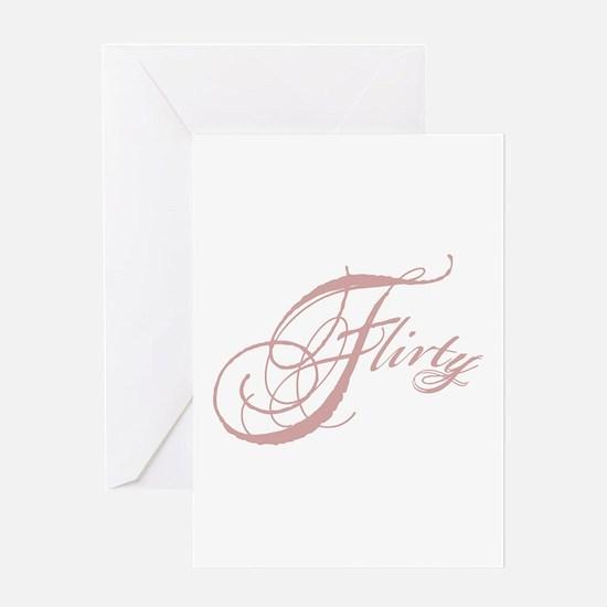 Flirty Girl Greeting Card
