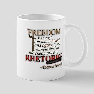 """Freedom for Rhetoric"" Mug"