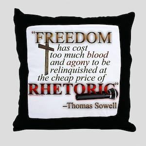 """Freedom for Rhetoric"" Throw Pillow"