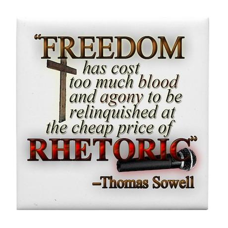 """""""Freedom for Rhetoric"""" Tile Coaster"""