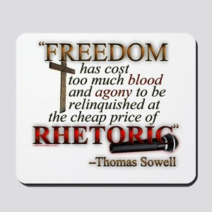 """Freedom for Rhetoric"" Mousepad"