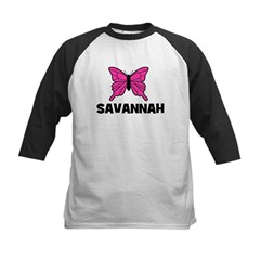 Butterfly - Savannah Kids Baseball Jersey
