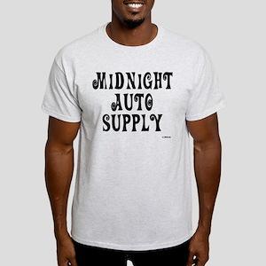 Midnight Auto Supply On a Light T-Shirt