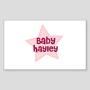 Baby Hayley Rectangle Sticker