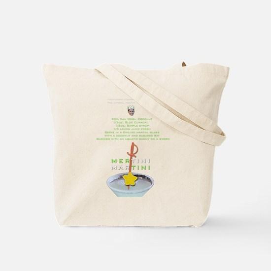 MerMan MerTini Martini Recipe Tote Bag