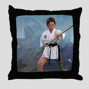 Sexy Kung Fu Throw Pillows Throw Pillow