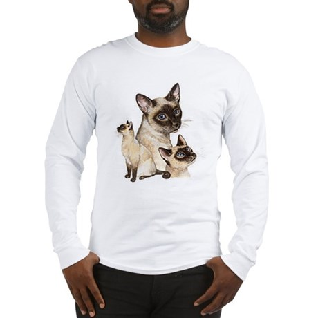 Siamese Cats Long Sleeve T-Shirt