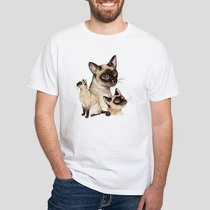 Siamese Cats White T-Shirt