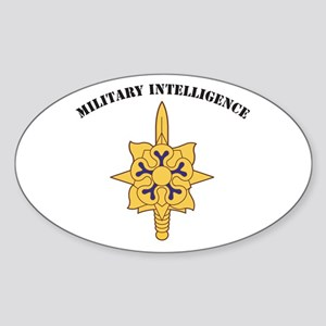 Military Intelligence Oval Sticker