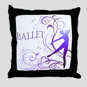 Ballet - scroll Throw Pillow