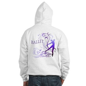 Ballet - scroll Hooded Sweatshirt
