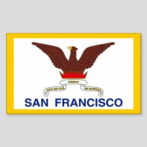 San Francisco City Flag Rectangle Sticker