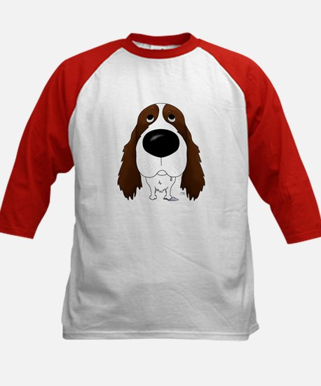 Big Nose Springer Spaniel Kids Baseball Jersey