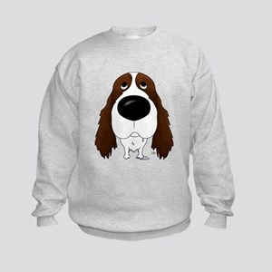 Big Nose Springer Spaniel Kids Sweatshirt