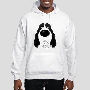 Big Nose Springer Spaniel Hooded Sweatshirt